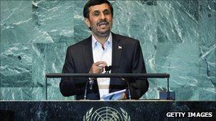 President Ahmadinejad speaks to UN General Assembly on 22 September