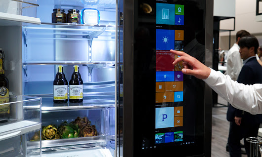 Le Frigo Connecté LG équipé de Windows 10 - Tech The Road