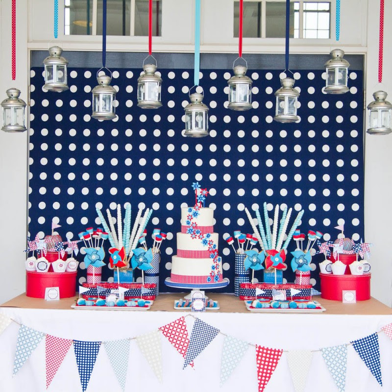 4th Of July Pinwheels Printable Party Collection Instant Download