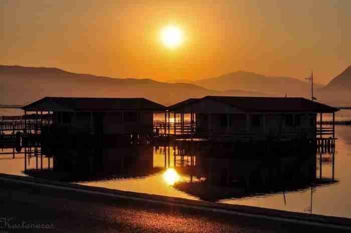 Η ελληνική Νέα Ορλεάνη: Σπίτια στο νερό πάνω σε πασσάλους, ζωσμένα με καλαμιές και φοινικόδεντρα