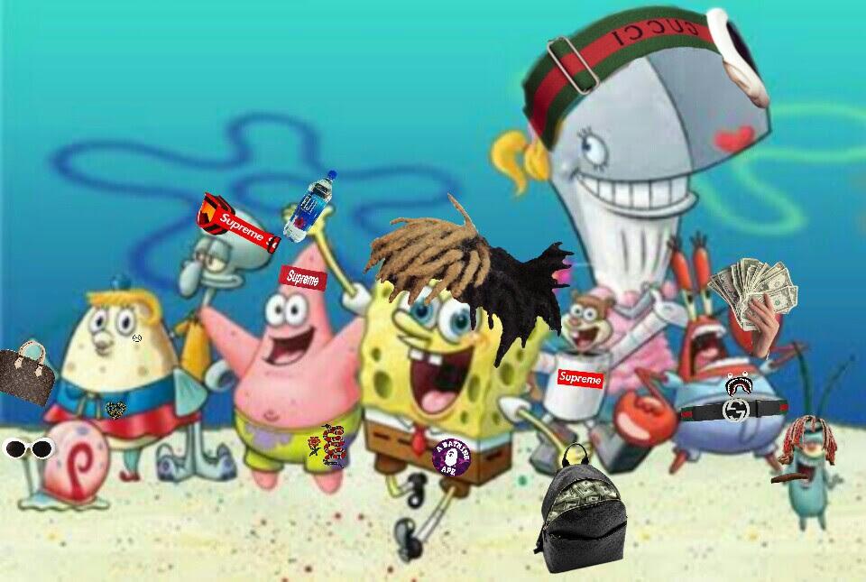 hypebeast supreme gucci spongebob...
