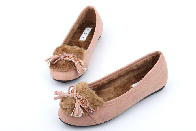INNER FUR PINK FLATS - product images  of