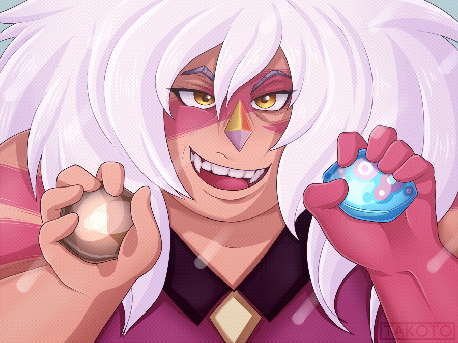 Screenshot redraw of Jasper from Gem Hunt * v * Speed Paint Here!! I hope we get to see more of Jasper throughout the coming episodes, she'll forever be my favourite SU character and my wife.