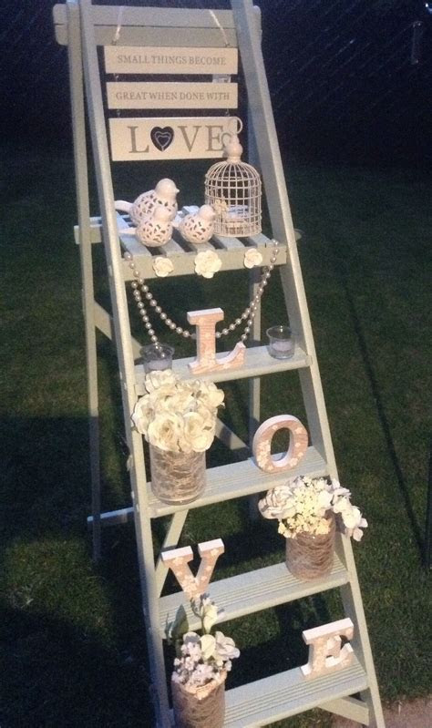 Wedding ladder Statement piece Available to hire .based in