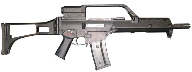 HK G36KE short assault rifle, export version, with 'E' type telescope sight / carrying handle setup
