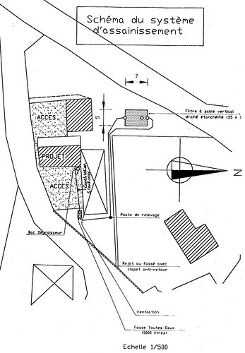 Plans for the new septic tank (fosse)