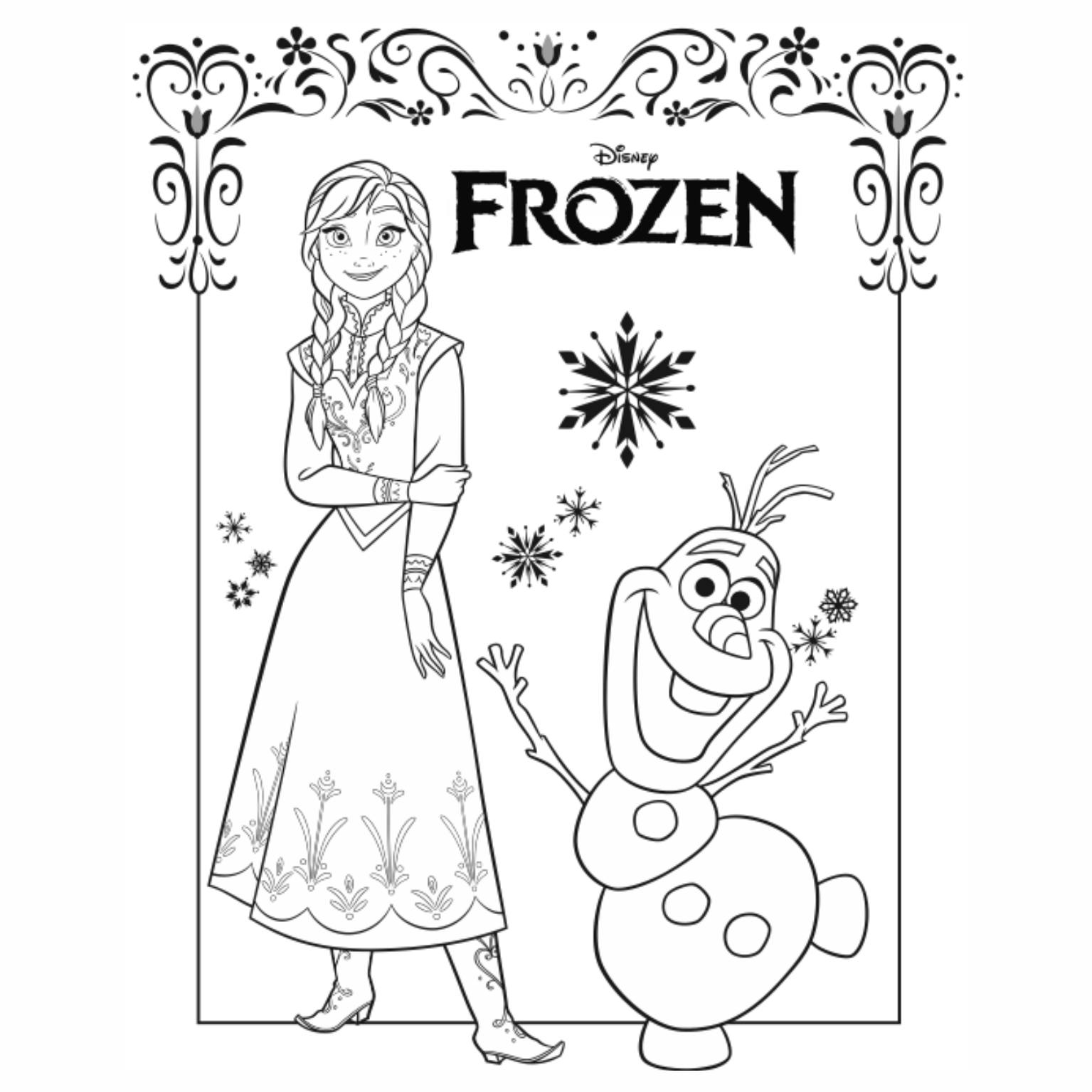 99 Easy Frozen Coloring Book Elsa Pdf Printable Pdf