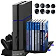 Amazon.com: Kootek PS4 Vertical Stand Cooling Fan Controller Charging Station with Game Storage & Dualshock Charger: Video Games