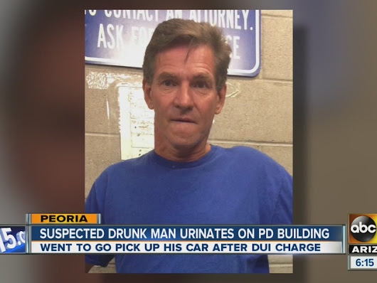 PD: Peoria man, Joseph Wasylk, shows up intoxicated to pick up impounded vehicle, pees on station