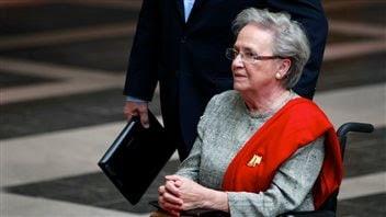 Lise Thibault à son arrivée au palais de justice