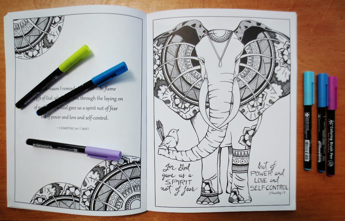 Elephant Coloring Page in Book (1200x770)