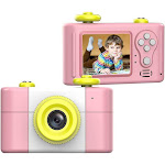 Anti-Fall Kids Camera Toys for Gifts, Shock-Proof Rechargeable Cute Mini HD 5.0mp 4X Digital Camera for Girls Dust-Proof Children Digital Video Camera