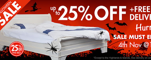 Grab Beautiful Sleigh Beds at Great Halloween Discounts