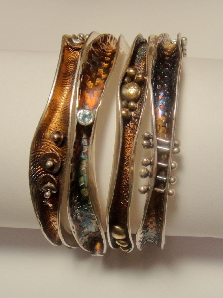 Robyn Cornelius, Wave Bangles  Sterling Silver