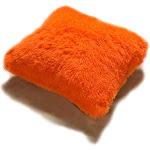 Kashi Home PV Fur Decorative Throw Pillow; Orange