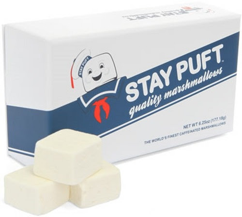 "thedailywhat: Dreams Do Come True of the Day: After 25 years, ThinkGeek finally brings the infamous Stay Puft marshmallow brand to life with an officially-licensed collectible box of ""Caffeinated Gourmet Marshmallows"" which may or may not paranormally increase in size and attempt to destroy the world. [thinkgeek.]"