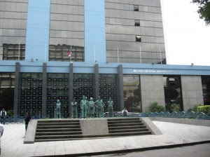 Fachada del Banco Central. CRH