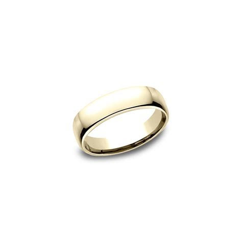 18K Yellow Gold European Comfort Fit Wedding Band (5.5mm