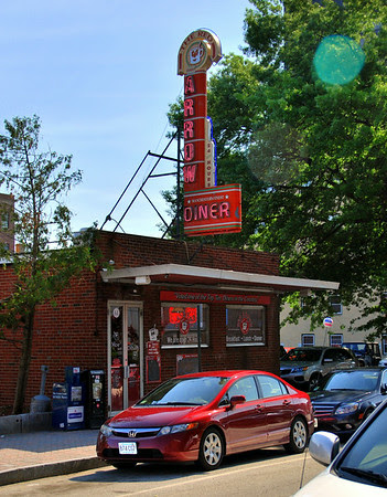 Exterior of the Red Arrow Diner at 61 Lowell Street in Manchester, New Hampshire.