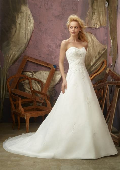 Strapless Slim A line Chapel Train Wedding Dress   Style