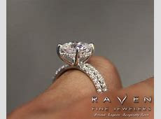 8mm Cushion Forever One Moissanite & Diamond Wrap Halo Engagement Ring and Wedding Band,2.50