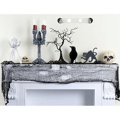 Halloween Black Gauze FabricTable Cloth - out of stock
