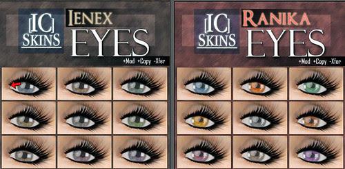 69L Wednesday IC Skins eyes