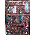 Bonita Hanging 12-Pocket Accessory Organizer Brown Dots