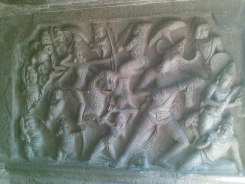 Mahishasuramardini Panel, Mahishasuramardini Mandapam, Mamallapuram