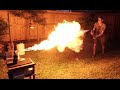 Liquid Nitrogen Freeze-Ray Vs. Flamethrower - Video