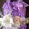 Purple/Lavender Lace Petti Romper w/ by My2DaughtersBowtique