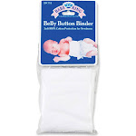 Baby King Belly Button Binder, White