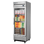 """True Refrigeration - 27"""" T Series Reach-In 1-Section Refrigerator W/ 1 Glass Door - LED Aluminum Interior - 115 Volts - Commercial Cooler"""