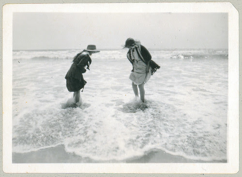 Two women in water
