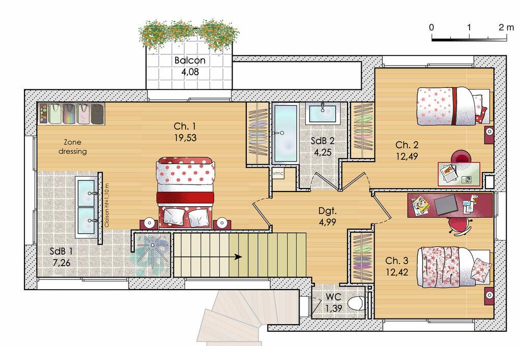 plan maison a etage meuble etage 18696