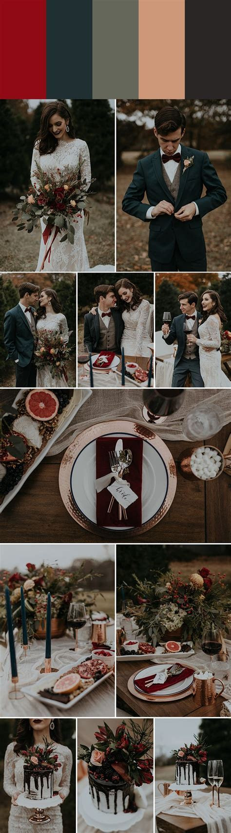 Best 25  Winter wedding colors ideas on Pinterest