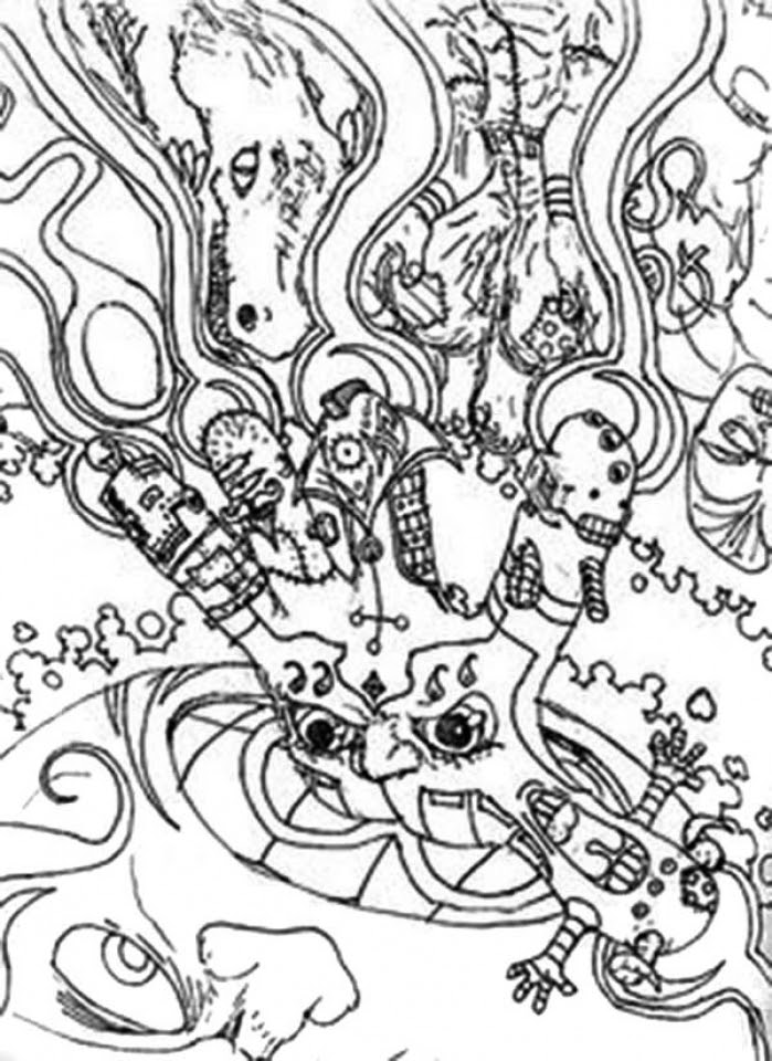 Get This Hard Trippy Coloring Pages Free for Adults ZIN56