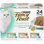 Fancy Feast Classic Seafood Feast Variety Pack Canned Cat Food - 24 cans, 3 oz each