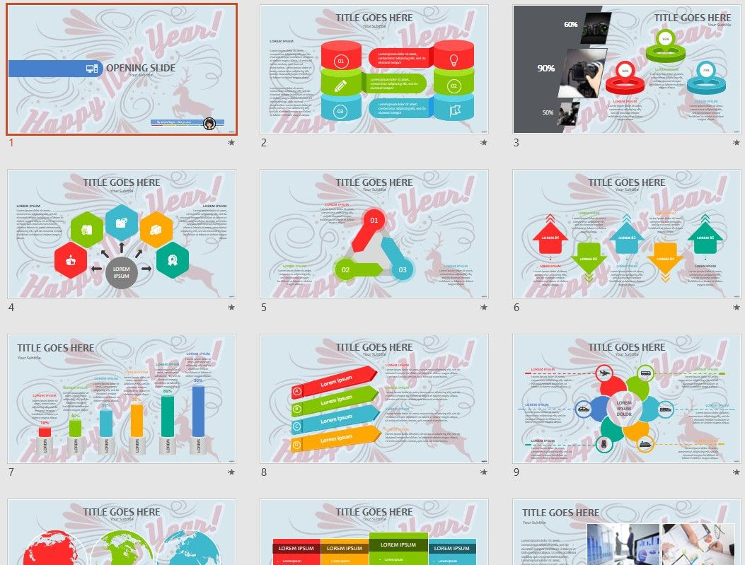 Happy New Year Powerpoint Template 69741