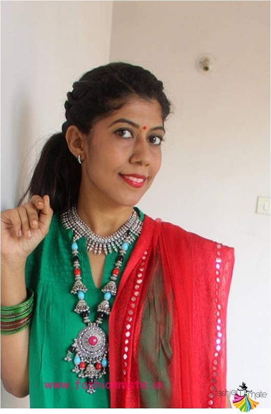 Day 2 OOTD - Festive work-wear for Navratri! | Fashion Mate