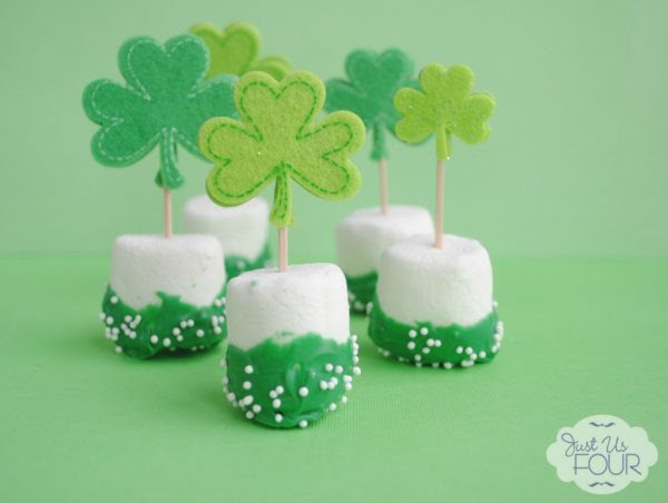My Suburban Kitchen St. Patricks Marshmallow Pops