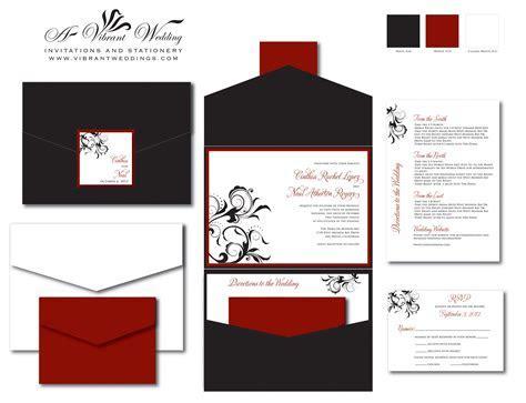 red and black wedding invitation ? A Vibrant Wedding