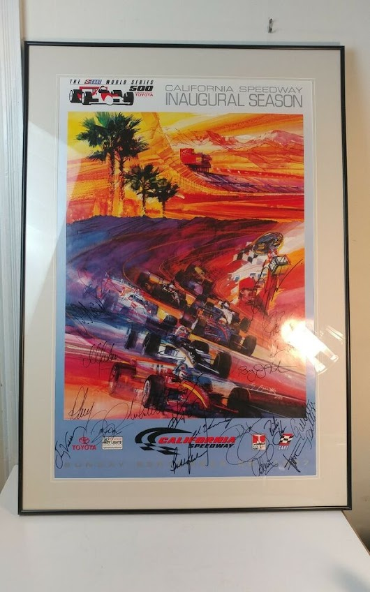 Details about  1997 Inaugural Season California Speedway Autographed Racing Poster