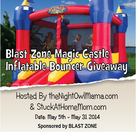 Blast Zone Magic Castle Inflatable Bouncer Blogger Opp. Event starts 5/5.