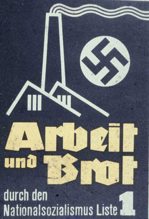 trabajo y pan, vota NSDAP-Lista 1