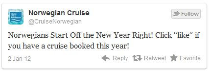 Twitter Norwegian cruise