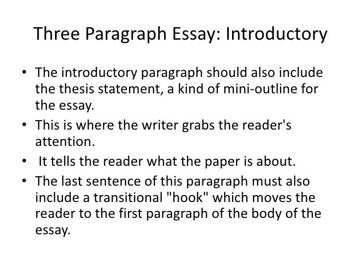 how to write a 3 paragraph essay