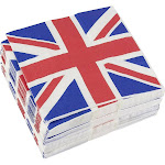 Juvale 100-Pack Decorative Napkins - Disposable Paper Party Napkins with UK Flag Design - Perfect for Birthday Parties, Celebrations and Special Occasions,