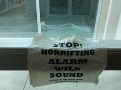 Stop! Horrifying alarm will sound