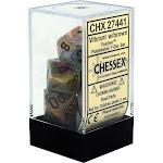 Chessex: Festive Vibrant w/ Brown - Polyhedral Dice Set (7) - CHX27441